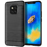 Silicone Candy Rubber TPU Line Soft Case Cover C02 for Huawei Mate 20 Pro Black