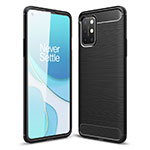 Silicone Candy Rubber TPU Line Soft Case Cover for OnePlus 8T 5G Black
