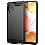 Silicone Candy Rubber TPU Line Soft Case Cover for Samsung Galaxy A42 5G Black