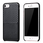 Silicone Candy Rubber TPU Twill Soft Case B05 for Apple iPhone SE (2020) Black