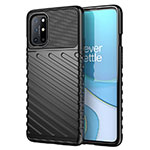 Silicone Candy Rubber TPU Twill Soft Case Cover S01 for OnePlus 8T 5G Black