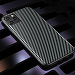 Silicone Candy Rubber TPU Twill Soft Case Cover Y01 for Apple iPhone 11 Pro Black