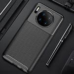 Silicone Candy Rubber TPU Twill Soft Case Cover Y02 for Huawei Mate 30 Pro 5G Black