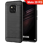 Silicone Candy Rubber TPU Twill Soft Case for Huawei Mate 20 RS Black