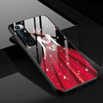 Silicone Frame Dress Party Girl Mirror Case Cover for Xiaomi Mi 10 Ultra Red