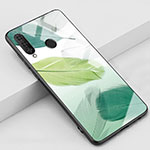 Silicone Frame Fashionable Pattern Mirror Case Cover K02 for Huawei P30 Lite Green