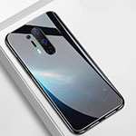Silicone Frame Fashionable Pattern Mirror Case Cover M01 for OnePlus 8 Pro Black