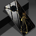 Silicone Frame Fashionable Pattern Mirror Case Cover S01 for Huawei Mate 30 Pro 5G Gold