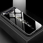 Silicone Frame Fashionable Pattern Mirror Case Cover S01 for Samsung Galaxy A80 Black