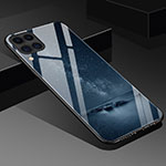Silicone Frame Fashionable Pattern Mirror Case Cover S02 for Huawei P40 Lite Black