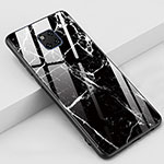 Silicone Frame Fashionable Pattern Mirror Case Cover Z02 for Huawei Mate 20 Pro Black