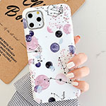 Silicone Frame Fashionable Pattern Mirror Case for Apple iPhone 11 Pro Mixed