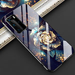 Silicone Frame Flowers Mirror Case Cover for Huawei P40 Pro Mixed