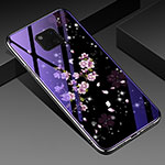Silicone Frame Flowers Mirror Case Cover K01 for Huawei Mate 20 Pro Mixed