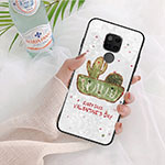 Silicone Frame Flowers Mirror Case for Huawei Mate 20 White