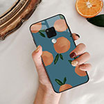 Silicone Frame Fruit Mirror Case for Huawei Mate 20 Blue