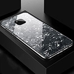 Silicone Frame Mirror Case Cover M01 for Huawei Mate 20 Pro Black