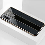 Silicone Frame Mirror Case Cover M01 for Huawei P30 Lite Black