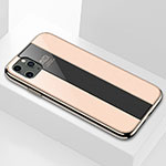 Silicone Frame Mirror Case Cover T01 for Apple iPhone 11 Pro Max Gold