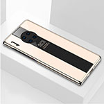Silicone Frame Mirror Case Cover T01 for Huawei Mate 30 Pro 5G Gold
