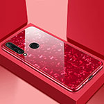 Silicone Frame Mirror Case Cover T01 for Huawei P30 Lite Red