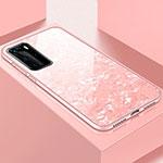 Silicone Frame Mirror Case Cover T01 for Huawei P40 Pro Pink