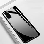 Silicone Frame Mirror Case Cover T01 for Samsung Galaxy S20 5G Black