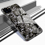 Silicone Frame Mirror Case Cover T02 for Apple iPhone 11 Pro Max Black