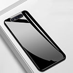Silicone Frame Mirror Case Cover T02 for Samsung Galaxy A80 Black