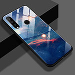 Silicone Frame Starry Sky Mirror Case S02 for Huawei P30 Lite Blue