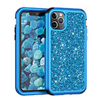 Silicone Matte Finish and Plastic Back Cover Case 360 Degrees Bling-Bling for Apple iPhone 11 Pro Max Blue