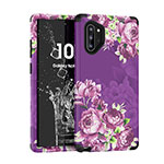 Silicone Matte Finish and Plastic Back Cover Case 360 Degrees for Samsung Galaxy Note 10 Plus 5G Purple