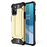 Silicone Matte Finish and Plastic Back Cover Case for OnePlus 8T 5G Gold