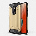 Silicone Matte Finish and Plastic Back Cover Case R01 for Huawei Mate 20 Gold