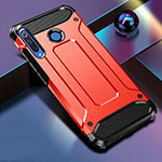 Silicone Matte Finish and Plastic Back Cover Case R01 for Huawei P30 Lite Red