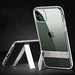 Silicone Matte Finish and Plastic Back Cover Case S01 for Apple iPhone 11 Pro Max Clear