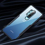 Silicone Transparent Mirror Frame Case 360 Degrees for OnePlus 8 Pro Black