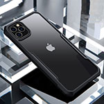 Silicone Transparent Mirror Frame Case Cover for Apple iPhone 11 Pro Black