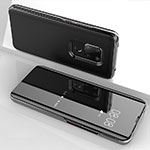 Silicone Transparent Mirror Frame Case Cover for Huawei Mate 20 Black