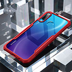 Silicone Transparent Mirror Frame Case Cover H01 for Huawei P30 Lite Red