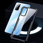 Silicone Transparent Mirror Frame Case Cover H01 for Samsung Galaxy S20 5G Black