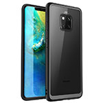 Silicone Transparent Mirror Frame Case Cover M01 for Huawei Mate 20 Pro Black