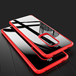 Silicone Transparent Mirror Frame Case Cover M02 for Huawei Mate 20 Red
