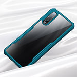 Silicone Transparent Mirror Frame Case Cover M02 for Oppo Find X2 Pro Green