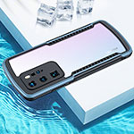 Silicone Transparent Mirror Frame Case Cover N03 for Huawei P40 Pro Silver