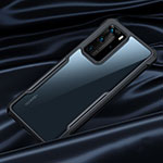 Silicone Transparent Mirror Frame Case Cover N07 for Huawei P40 Pro Black