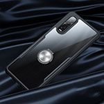 Silicone Transparent Mirror Frame Case Cover S01 for Oppo Find X2 Pro Black