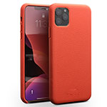 Soft Luxury Leather Snap On Case Cover for Apple iPhone 11 Pro Max Red