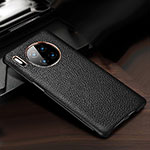 Soft Luxury Leather Snap On Case Cover for Huawei Mate 30 Pro Black