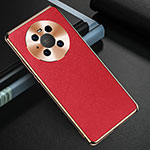 Soft Luxury Leather Snap On Case Cover K03 for Huawei Mate 40 Pro Red